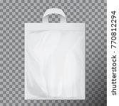 empty white blank polyethylene...   Shutterstock .eps vector #770812294