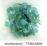 rough gemstone green amethyst | Shutterstock . vector #770813830