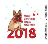 vector 2018 happy new year  ... | Shutterstock .eps vector #770815888