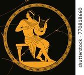 vector vintage greek national... | Shutterstock .eps vector #770818660