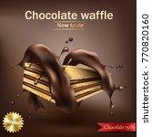 vector realistic sweet crispy... | Shutterstock .eps vector #770820160