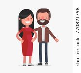 cute senior couple vector... | Shutterstock .eps vector #770821798
