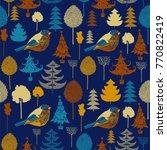 winter pattern design  forest... | Shutterstock .eps vector #770822419