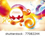 abstract colorful floral vector ... | Shutterstock .eps vector #77082244