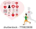 man running for heart   Shutterstock .eps vector #770823838