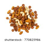 mixed nuts isoalted on white | Shutterstock . vector #770825986