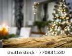 table background and christmas... | Shutterstock . vector #770831530