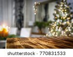 table background and christmas... | Shutterstock . vector #770831533