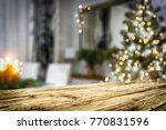 table background and christmas... | Shutterstock . vector #770831596