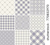 seamless set of pattern on a... | Shutterstock .eps vector #770832970