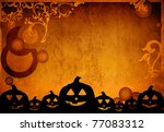 halloween pumpkins with pumpkin ... | Shutterstock . vector #77083312