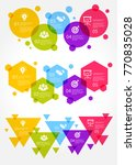 colorful business infographic... | Shutterstock .eps vector #770835028