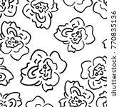 graphic hand drawn rose flower... | Shutterstock .eps vector #770835136
