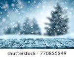 table background and winter...   Shutterstock . vector #770835349