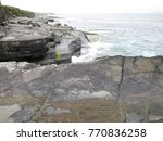 Small photo of The Tetrapod Trackway in Valencia Island, IRELAND, which is comprises the fossilised footprints of a 385 million year old tetrapod
