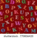 english alphabet. shading with... | Shutterstock .eps vector #770836420