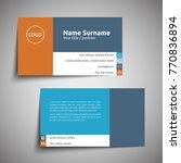 modern simple business card set ... | Shutterstock .eps vector #770836894
