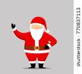 santa claus cartoon character.... | Shutterstock .eps vector #770837113