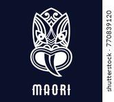maori mask logo   Shutterstock .eps vector #770839120