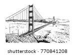 sketch of golden gate bridge ...   Shutterstock .eps vector #770841208