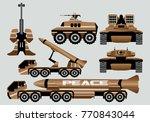 vintage war artillery heavy...   Shutterstock .eps vector #770843044