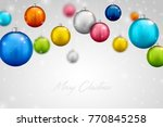 colorful beautiful christmas... | Shutterstock .eps vector #770845258
