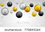 beautiful silver  black and... | Shutterstock .eps vector #770845264