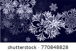 beautiful christmas background... | Shutterstock .eps vector #770848828
