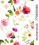 seamless summer pattern with... | Shutterstock . vector #770850484