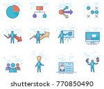 business icons in flat color... | Shutterstock .eps vector #770850490