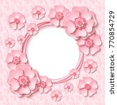 beautiful vintage round frame... | Shutterstock .eps vector #770854729