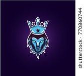 lions head logo | Shutterstock .eps vector #770860744