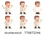 retro 3d scientist young cute... | Shutterstock .eps vector #770872246