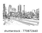 sketch of san fransisco road... | Shutterstock .eps vector #770872660