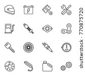 motorcycle parts vector icons.... | Shutterstock .eps vector #770875720