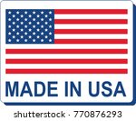 made in usa flag | Shutterstock .eps vector #770876293