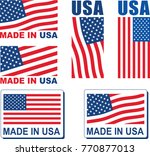 made in usa flag design | Shutterstock .eps vector #770877013