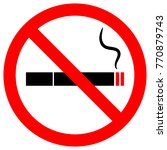 no smoking sign | Shutterstock .eps vector #770879743
