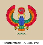 graphic illustration of ancient ... | Shutterstock .eps vector #770883190