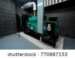 generator room emergency power... | Shutterstock . vector #770887153