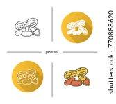peanuts icon. flat design ... | Shutterstock . vector #770888620