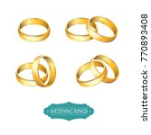 vector illustration. gold... | Shutterstock .eps vector #770893408