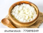 rice milk porridge with nuts... | Shutterstock . vector #770898349