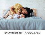 beautiful african woman...   Shutterstock . vector #770902783