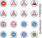 line vector icon set   no way... | Shutterstock .eps vector #770903104
