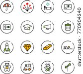 line vector icon set  ... | Shutterstock .eps vector #770904340