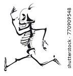 a man skeleton running in black ... | Shutterstock .eps vector #770909548