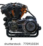 demo of motorcycle v twin... | Shutterstock . vector #770910334