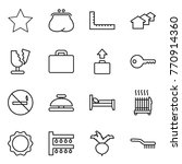 thin line icon set   star ... | Shutterstock .eps vector #770914360
