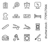 thin line icon set   report ... | Shutterstock .eps vector #770917066